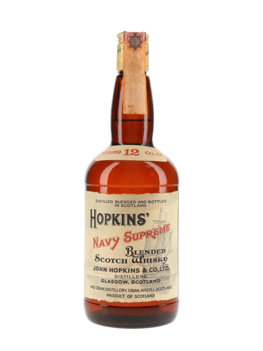 Hopkins' Navy Supreme 12 Year Old Bottled 1970s 75cl / 43%