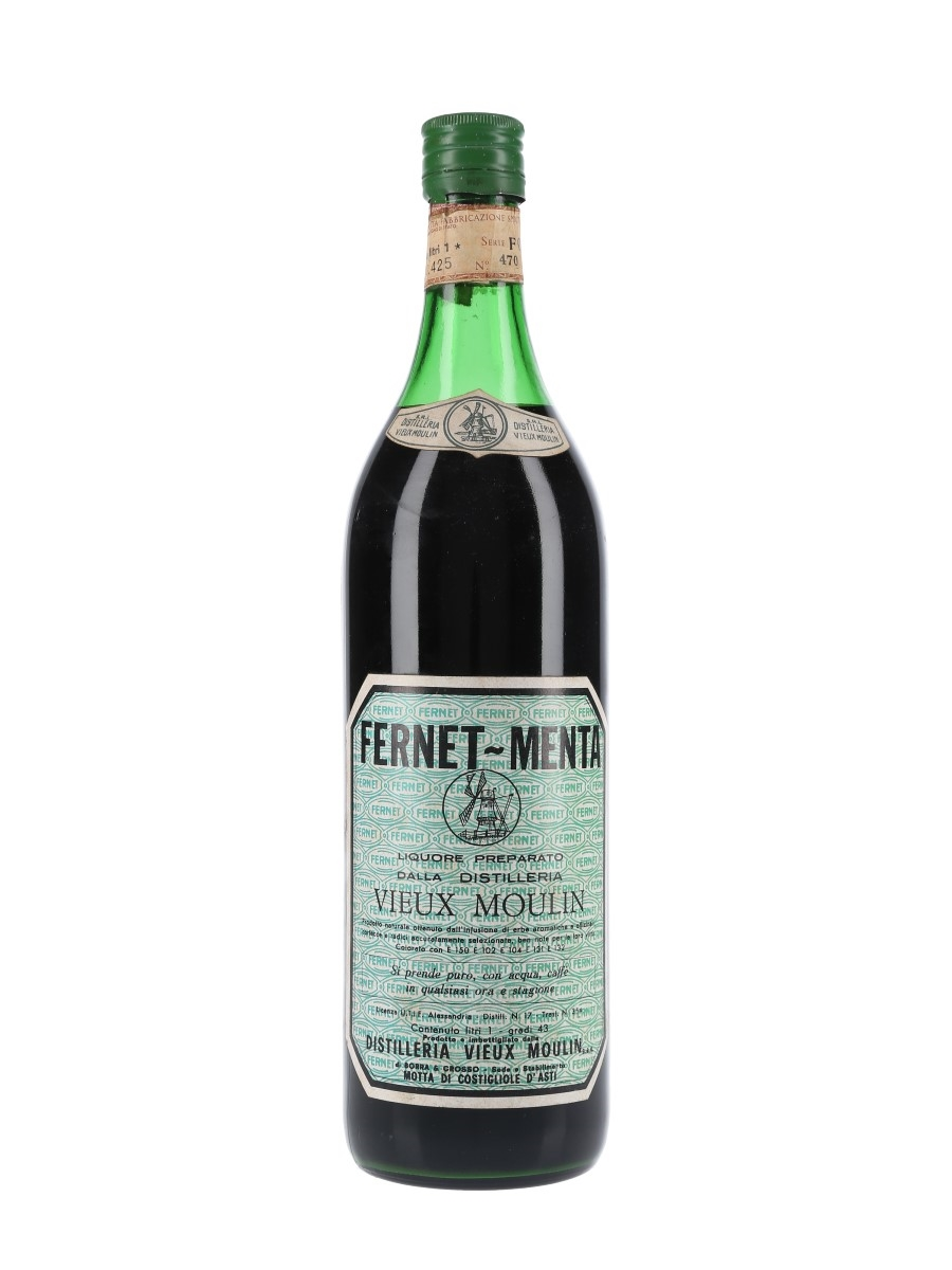 Vieux Moulin Fernet Menta Bottled 1960s 100cl / 43%