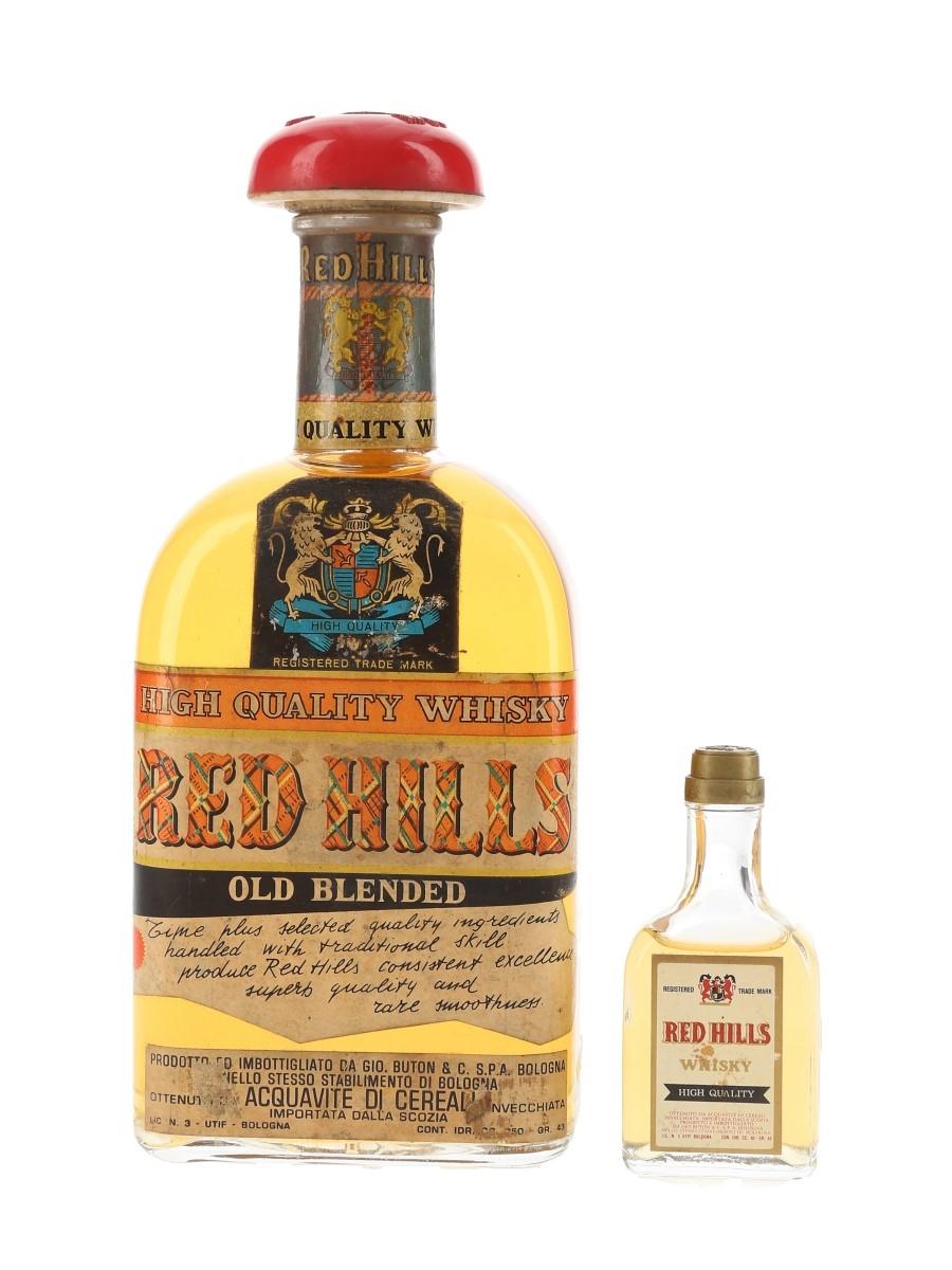 Red Hills Old Blended Whisky Bottled 1950s - Buton 4cl & 75cl / 43%