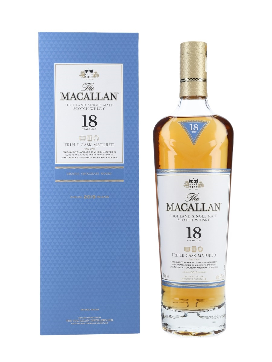 Macallan 18 Year Old Fine Oak Annual 2019 Release - Triple Cask Matured 70cl / 43%