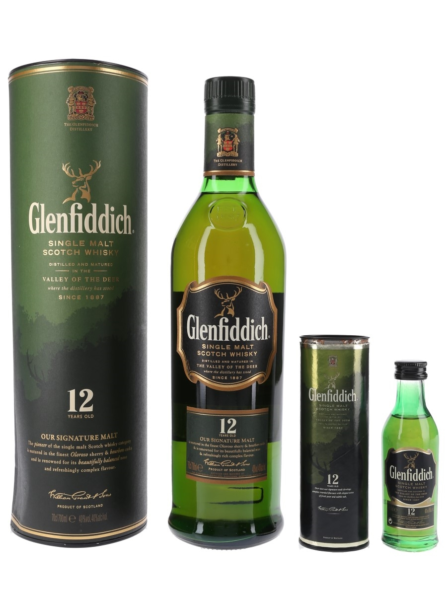 Glenfiddich 12 Year Old Old Presentation 5cl & 70cl / 40%