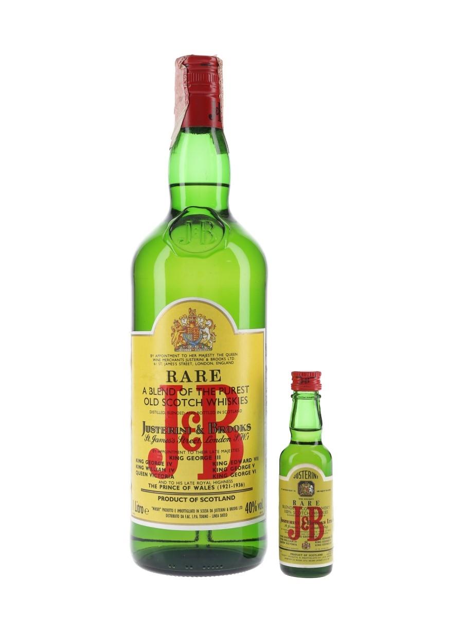 J & B Rare Bottled 1980s - Dateo 3.7cl & 100cl
