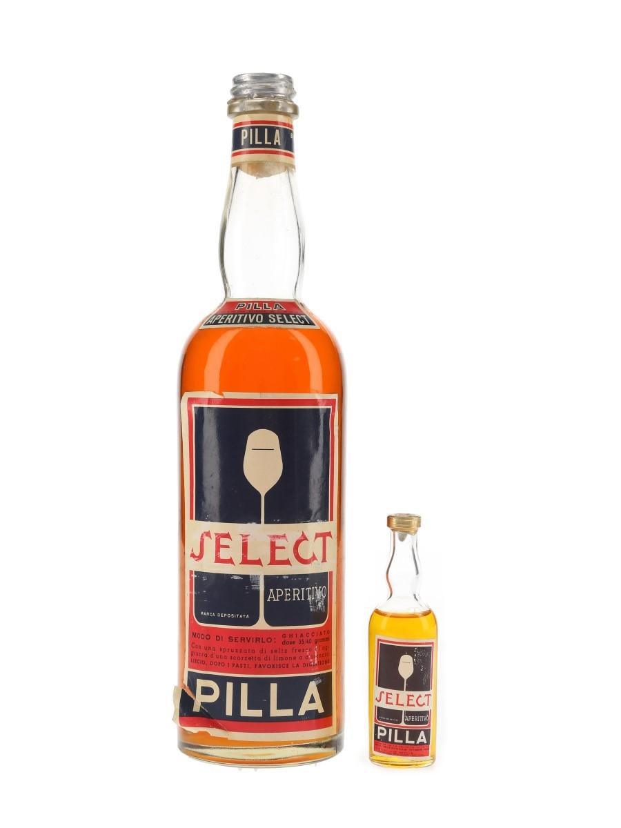 Pilla Select Aperitivo Bottled 1950s 3.5cl & 75cl