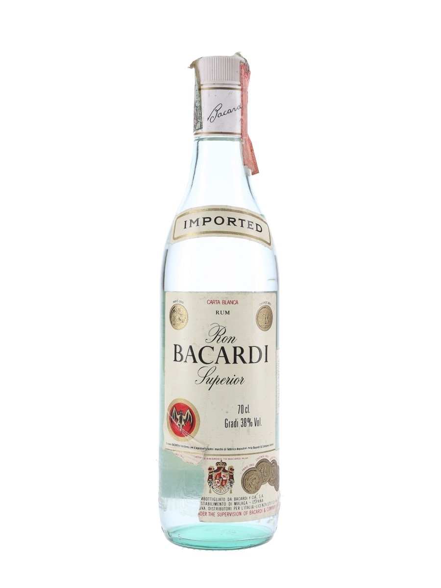 Bacardi Superior Bottled 1990s 70cl / 38%