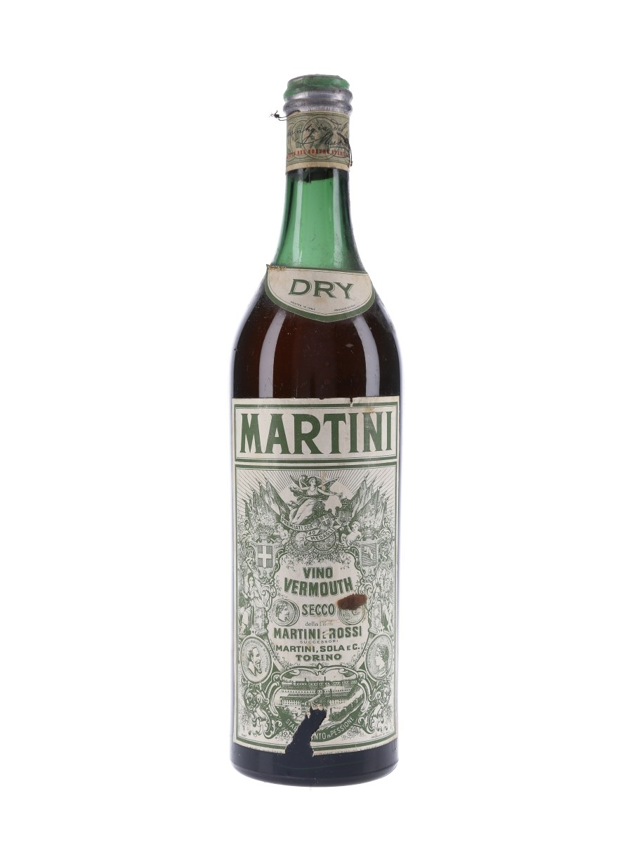Martini Dry Bottled 1950s 100cl