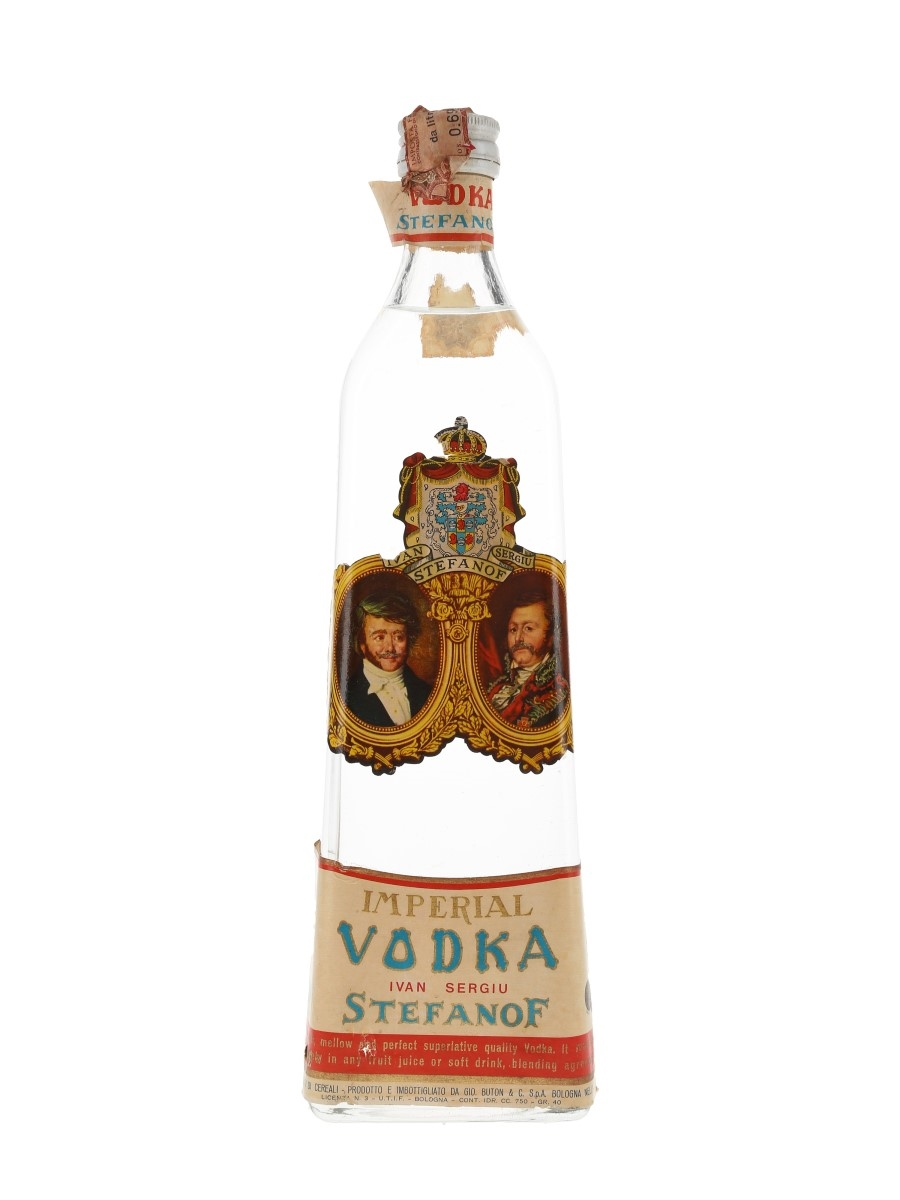 Stefanof Imperial Vodka Bottled 1960s - Buton 75cl / 40%