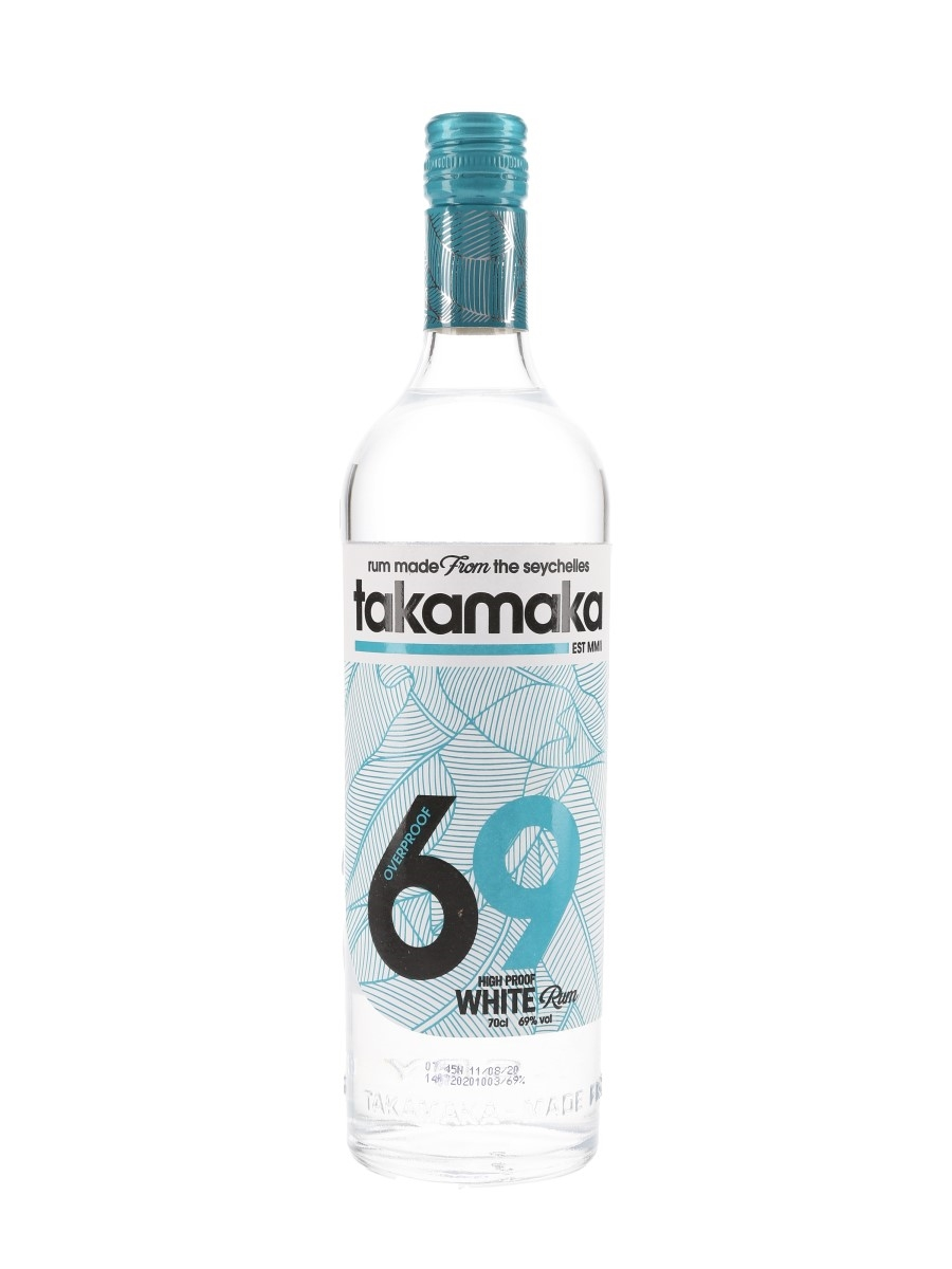 Takamaka 69 Overproof White Rum Bottled 2020 - Spirit Of The Seychelles 70cl / 69%