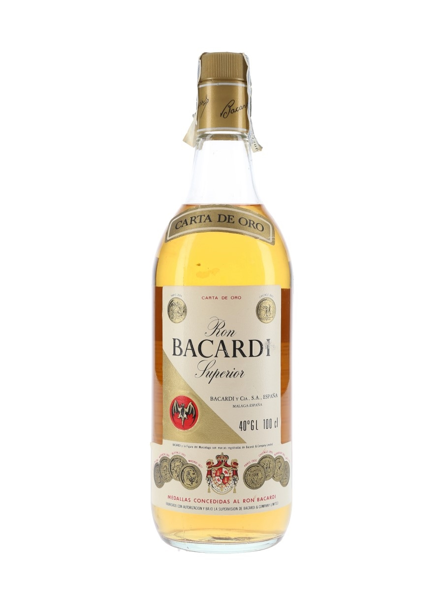 Bacardi Carta De Oro Bottled 1980s 100cl / 40%