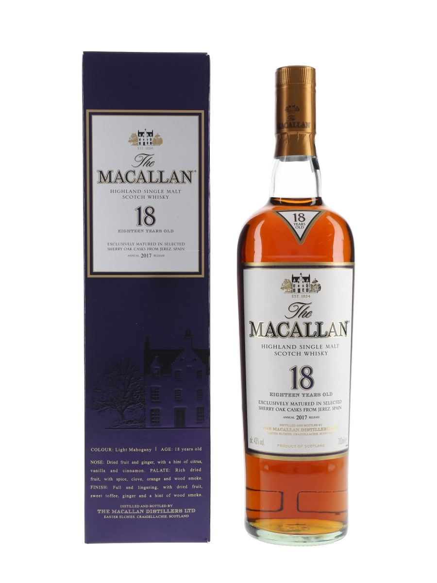 Macallan 18 Year Old Annual 2017 Release 70cl / 43%