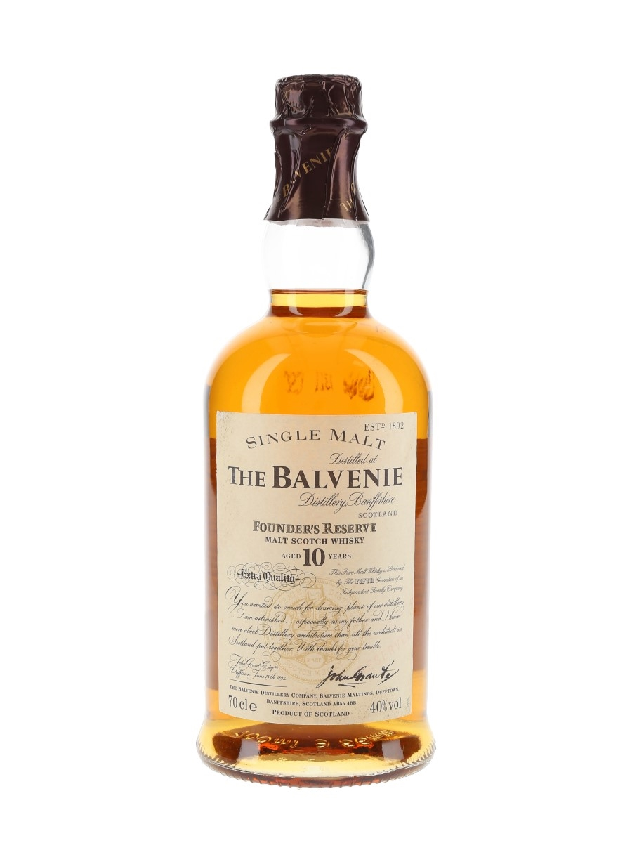 Balvenie 10 Year Old Founder's Reserve Bottled 1990s 70cl / 40%