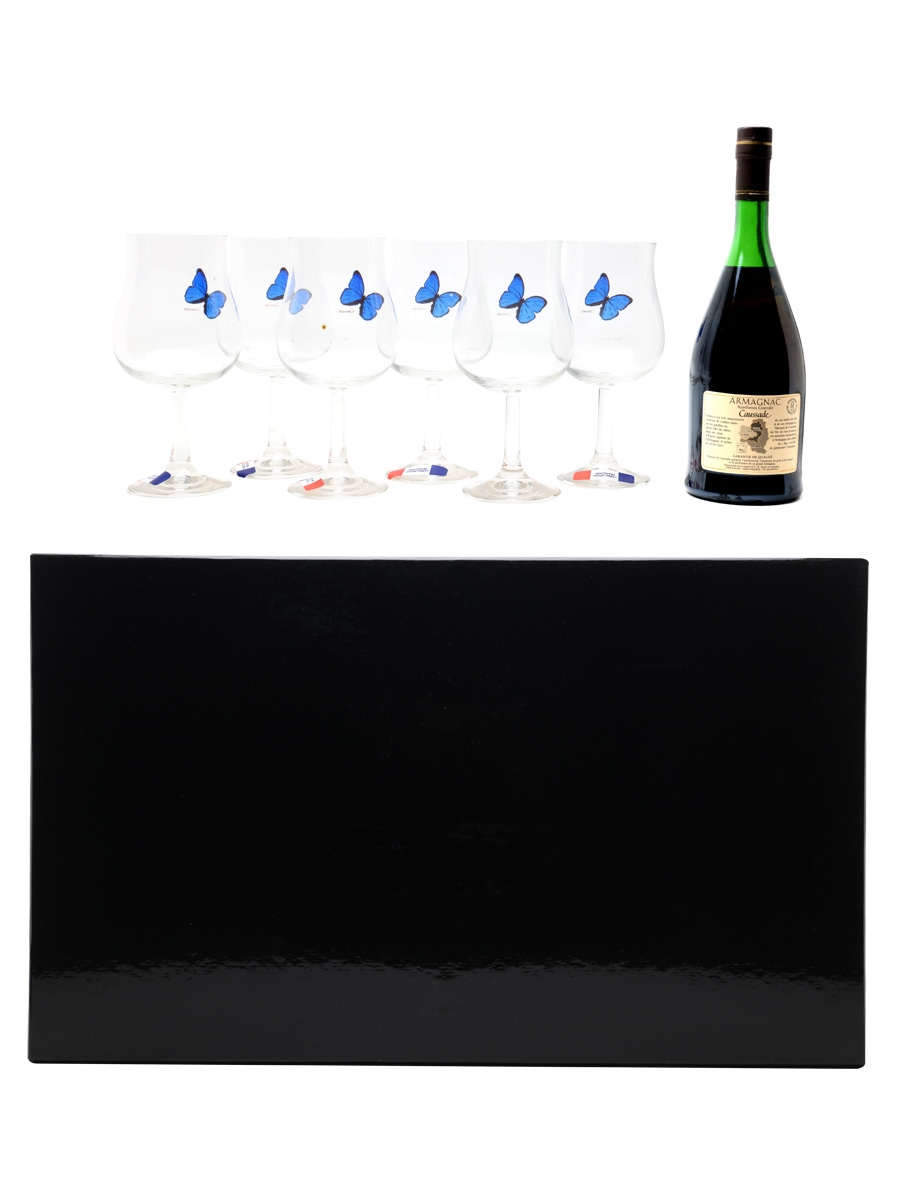 Marquis De Caussade Reserve Glasses Set 70cl / 40%