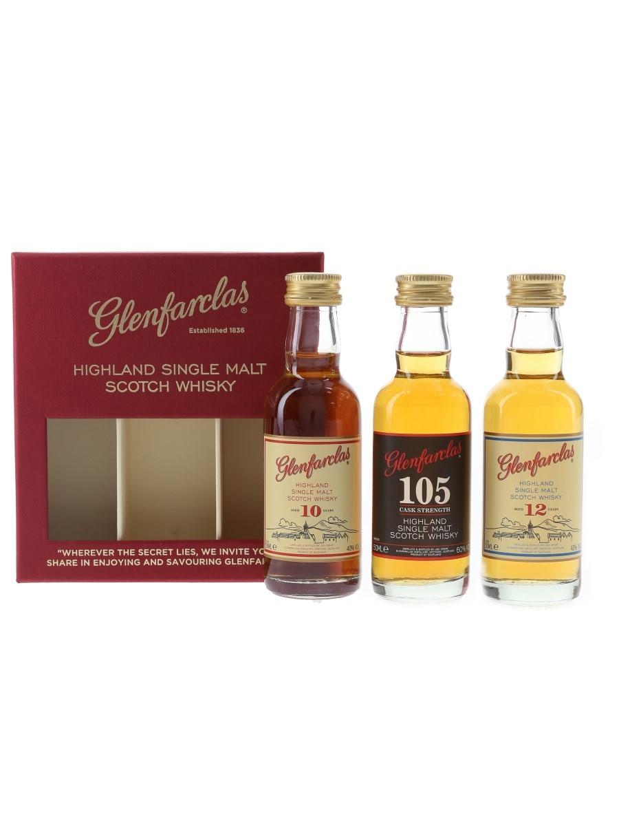 Glenfarclas Tasting Set 105, 10 & 12 Year Old 3 x 5cl