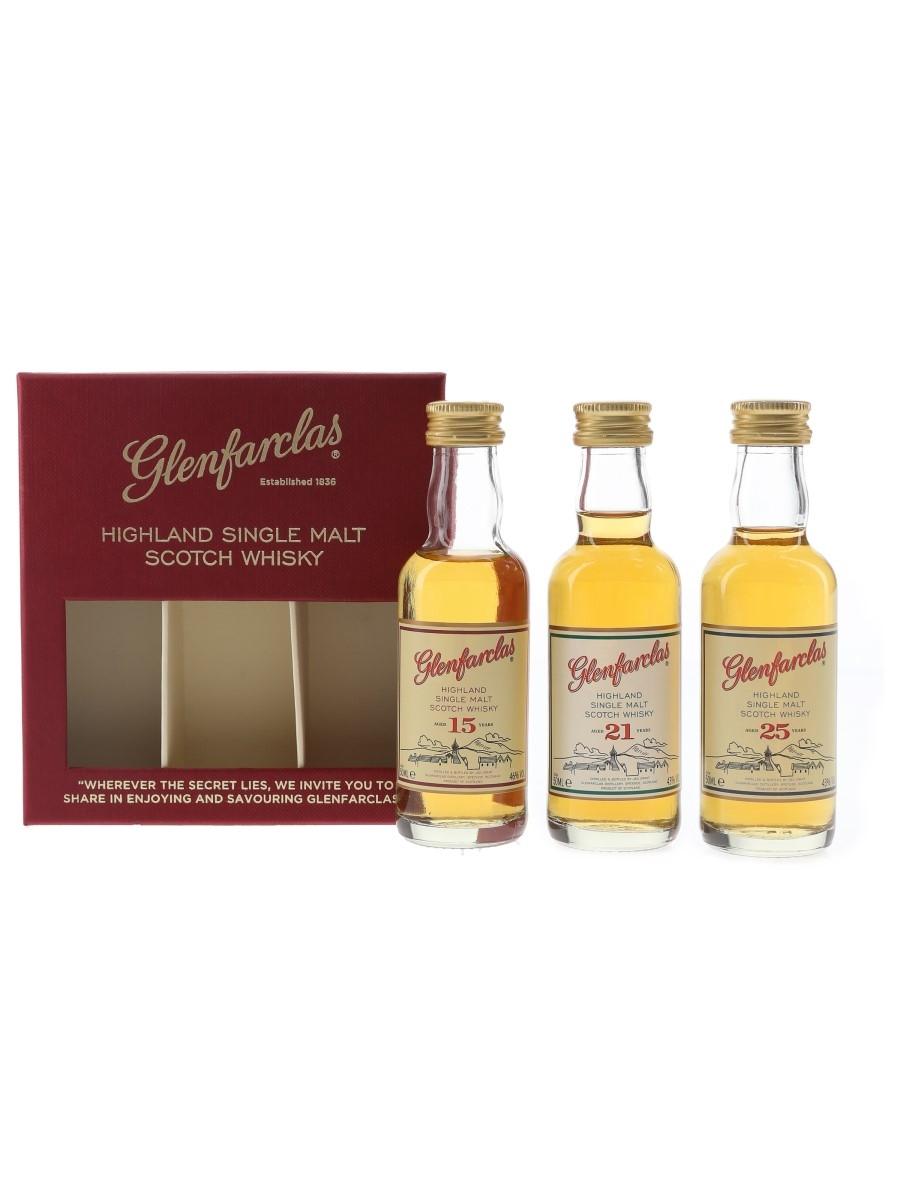 Glenfarclas Tasting Set 15, 21 & 25 Year Old 3 x 5cl