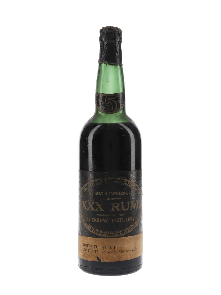 Dyer Meakin Breweries 5 Year Old XXX Rum Bottled 1950s - India 65.3cl / 42.8%