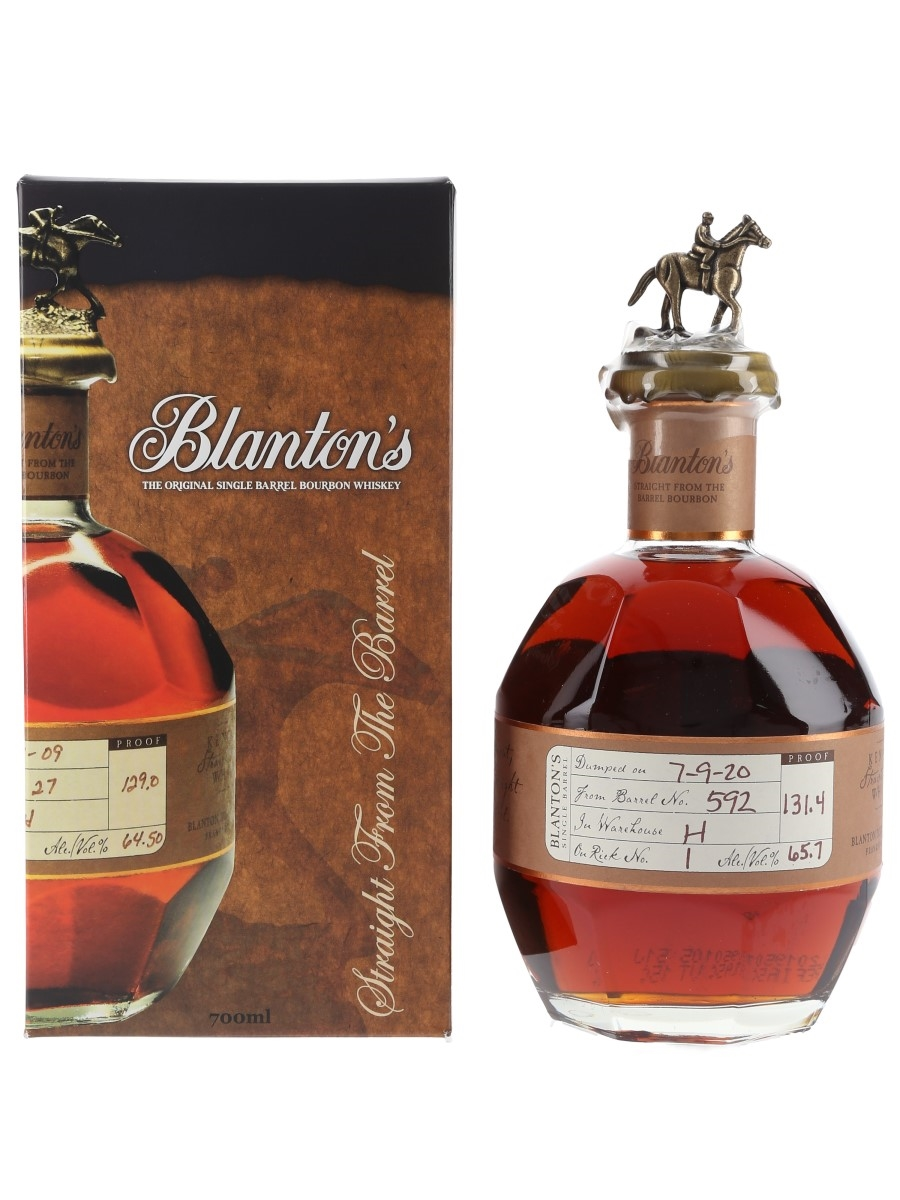 Blanton's Straight From The Barrel No. 592 Bottled 2020 70cl / 65.7%