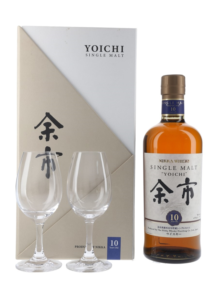 Yoichi 10 Year Old Glasses Pack  70cl / 45%