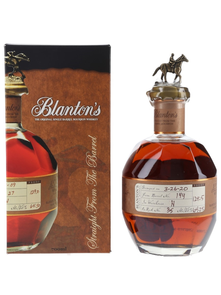 Blanton's Straight From The Barrel No. 144 Bottled 2020 70cl / 64.25%