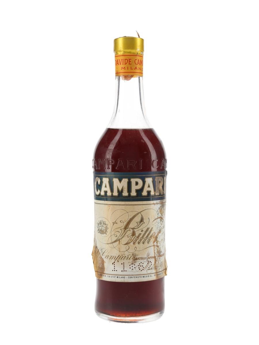 Campari Bitter Bottled 1960s 75cl / 25%