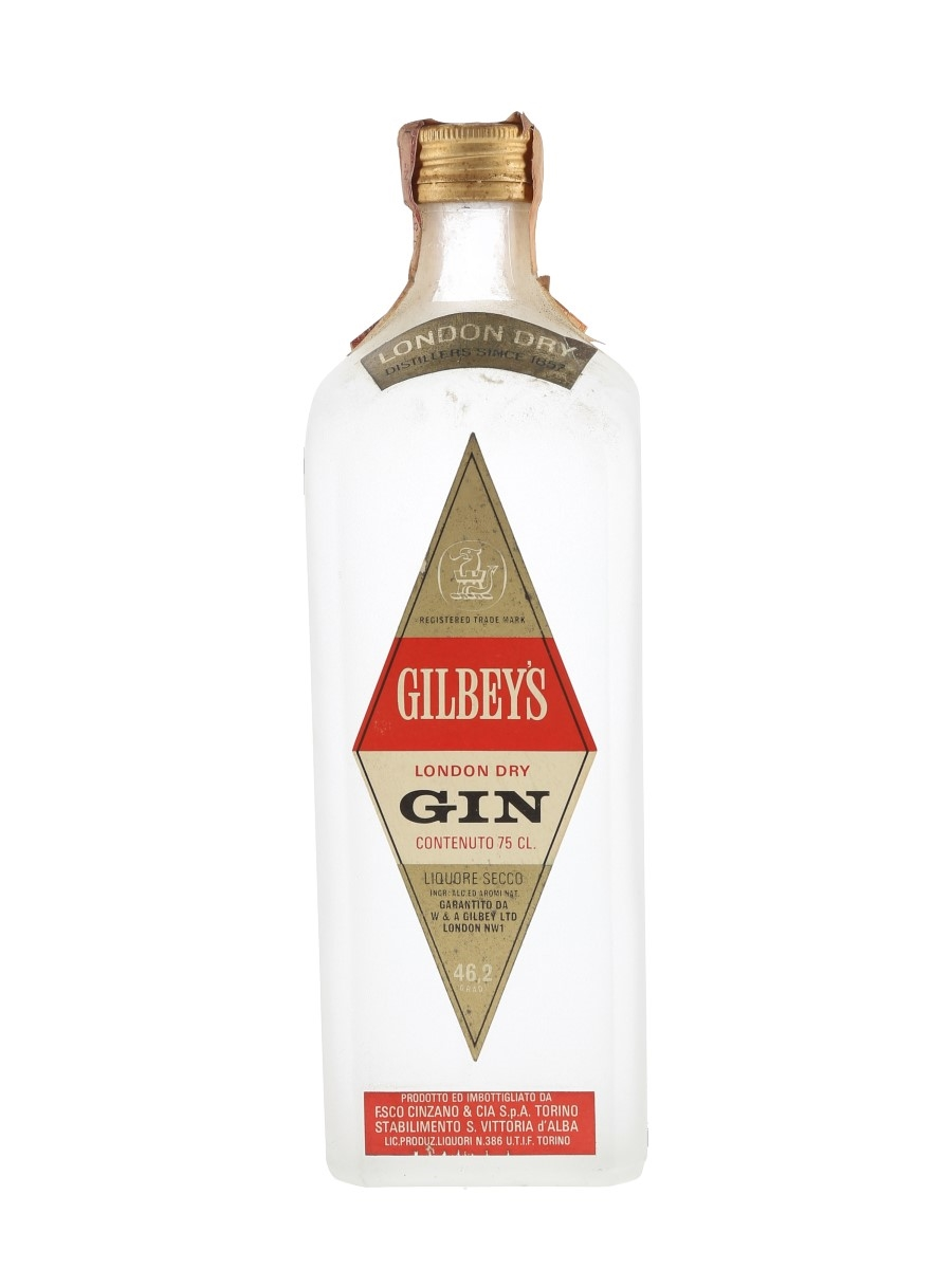 Gilbey's London Dry Gin Bottled 1960s - Cinzano 75cl / 46.2%