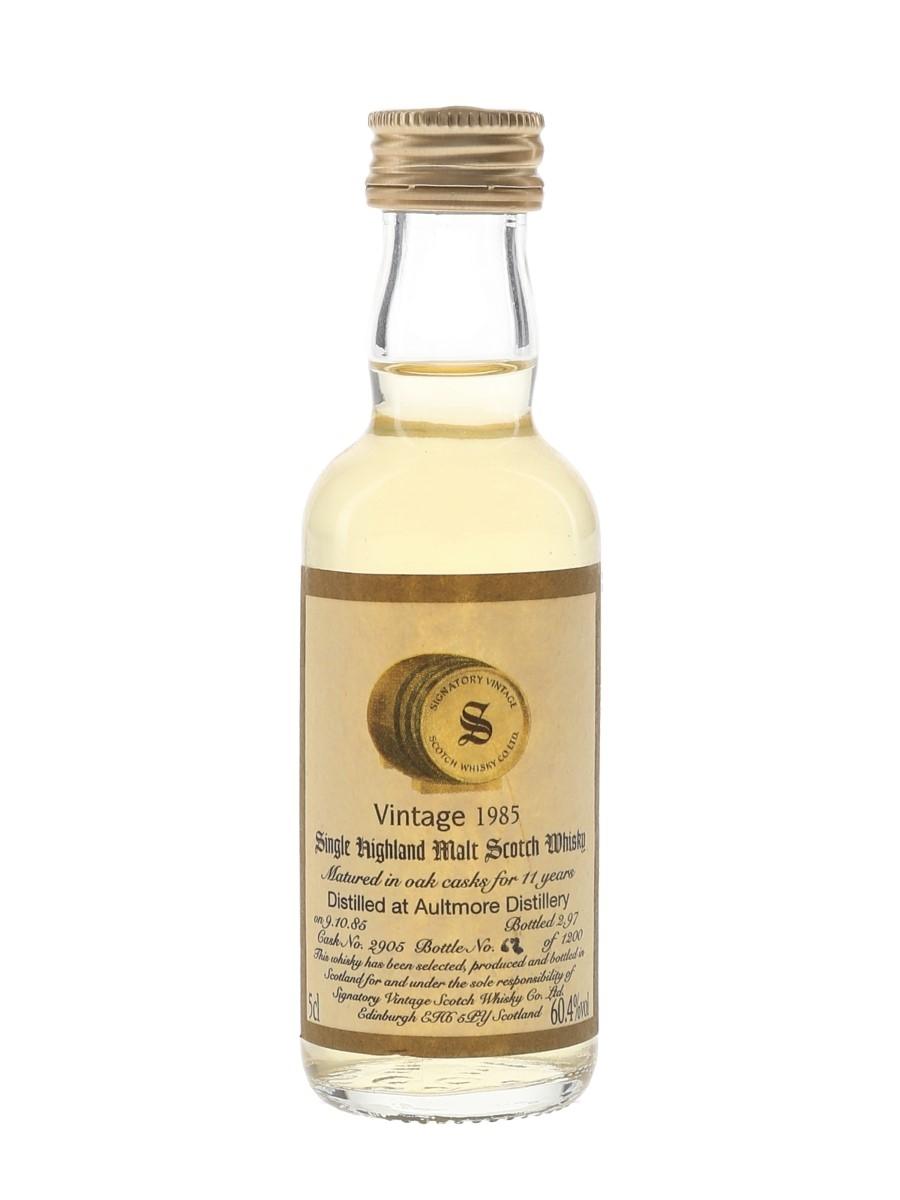 Aultmore 1985 11 Year Old Bottled 1997 - Signatory Vintage 5cl / 60.4%
