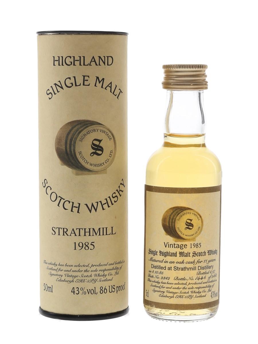 Strathmill 1985 11 Year Old Bottled 1997 - Signatory Vintage 5cl / 43%