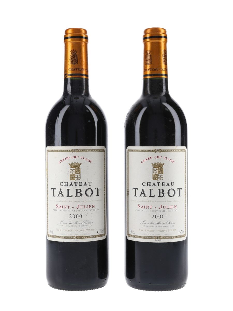 Chateau Talbot 2000 Grand Cru Classe - Saint Julien 2 x 75cl / 13%