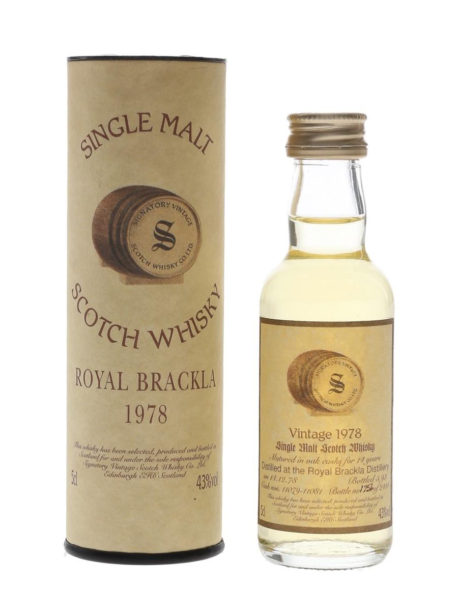 Royal Brackla 1978 14 Year Old Bottled 1993 - Signatory Vintage 5cl / 43%