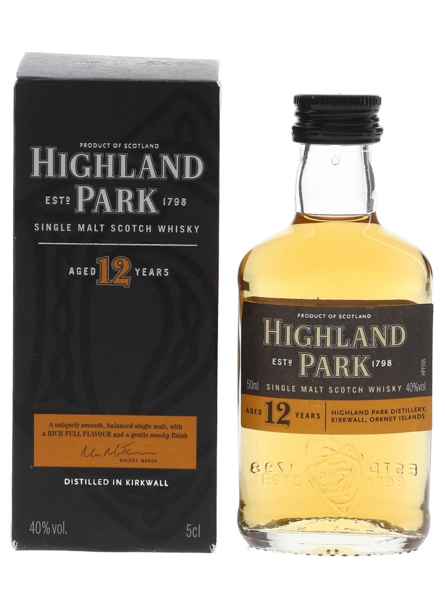 Highland Park 12 Year Old Bottled Pre 2012 5cl / 40%