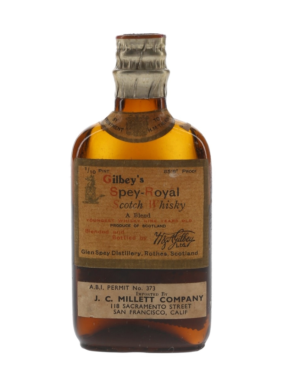 Gilbey's Spey Royal 9 Year Old Bottled 1930s - J C Millet Company 4.7cl / 42.8%