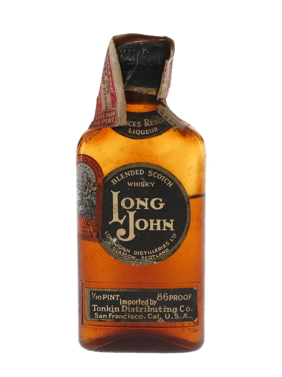 Long John Special Reserve Bottled 1930s-1940s - Tonkin Distributing Co. 4.7cl / 43%