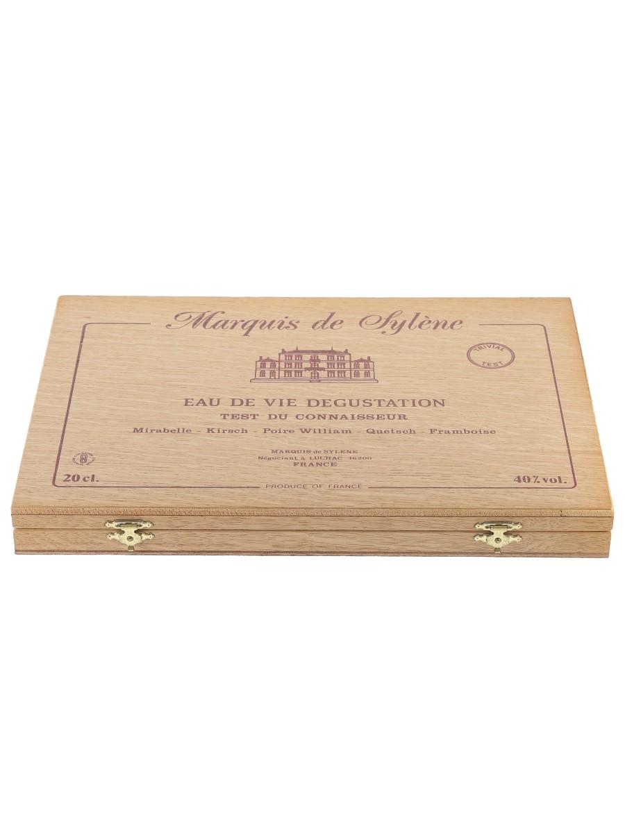 Marquis De Sylene Eau De Vie Tasting Set Mirabelle, Kirsch, Poire William, Quetsch & Framboise 10 x 2cl / 40%