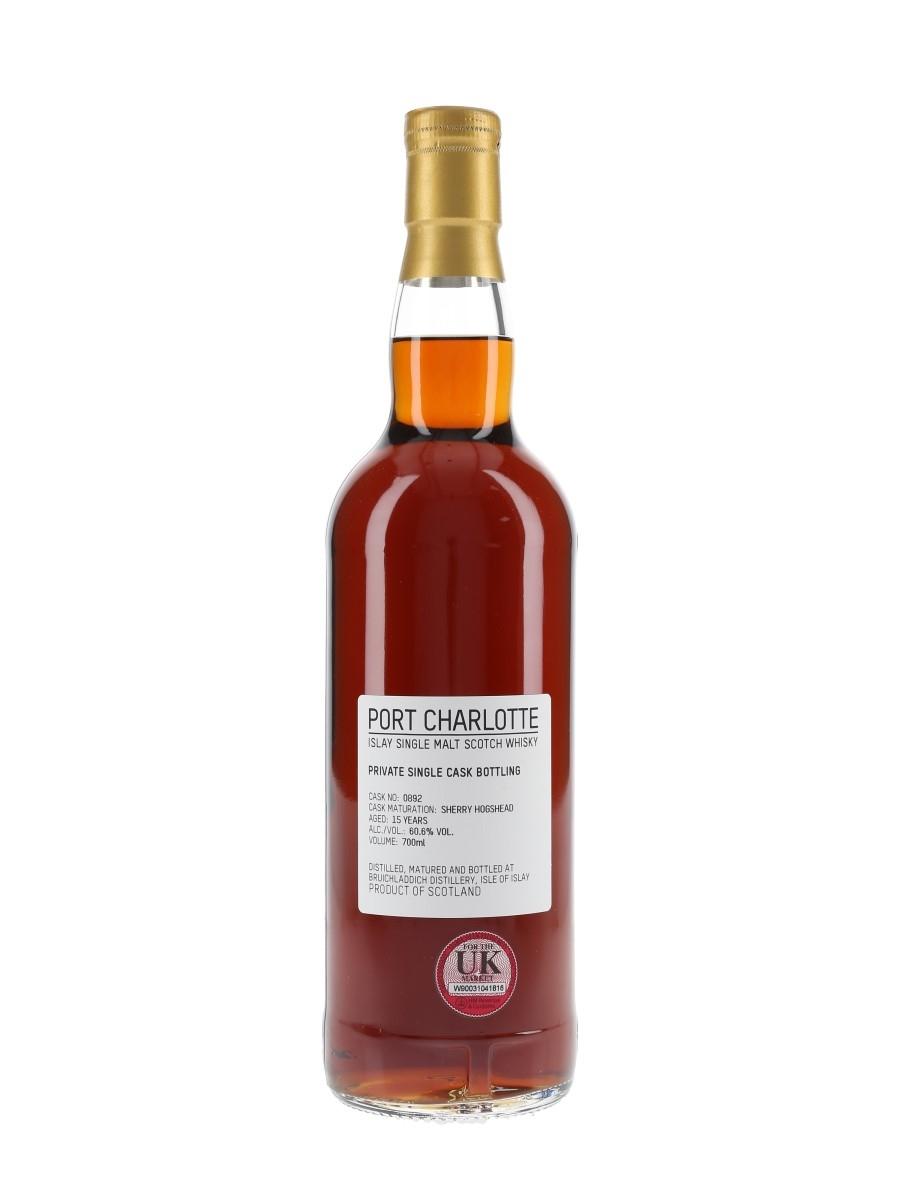 Port Charlotte 15 Year Old Sherry Hogshead 0892 Private Cask Bottling 70cl / 60.6%