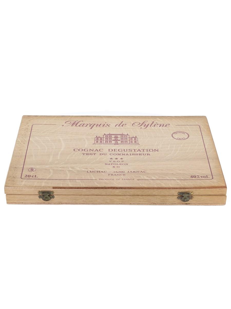 Marquis De Sylene Cognac Tasting Set 3 Star, VSOP, Napoleon & XO 10 x 2cl / 40%