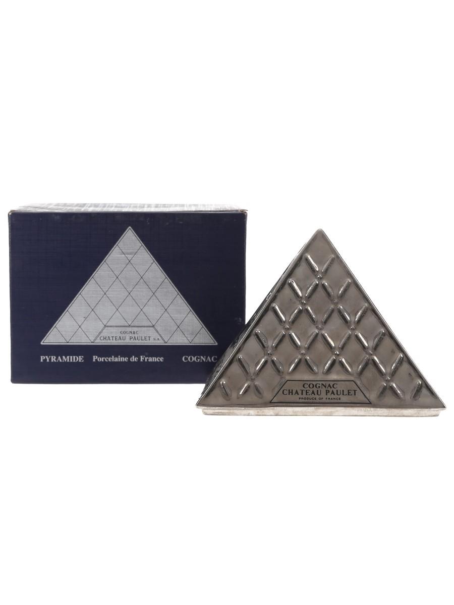Chateau Paulet Napoleon Cognac Pyramide Silver Porcelain Decanter 5cl / 40%