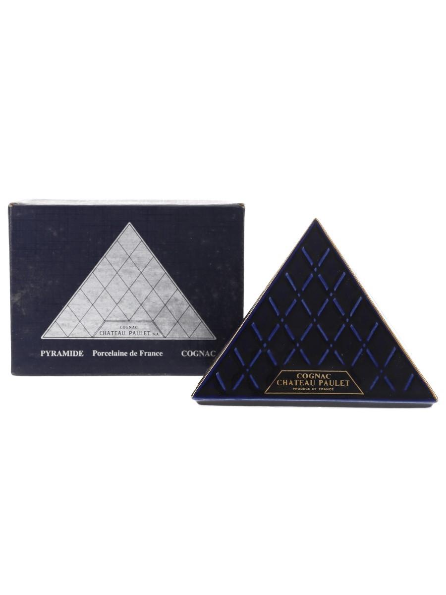 Chateau Paulet Napoleon Cognac Pyramide Blue Porcelain Decanter 5cl / 40%