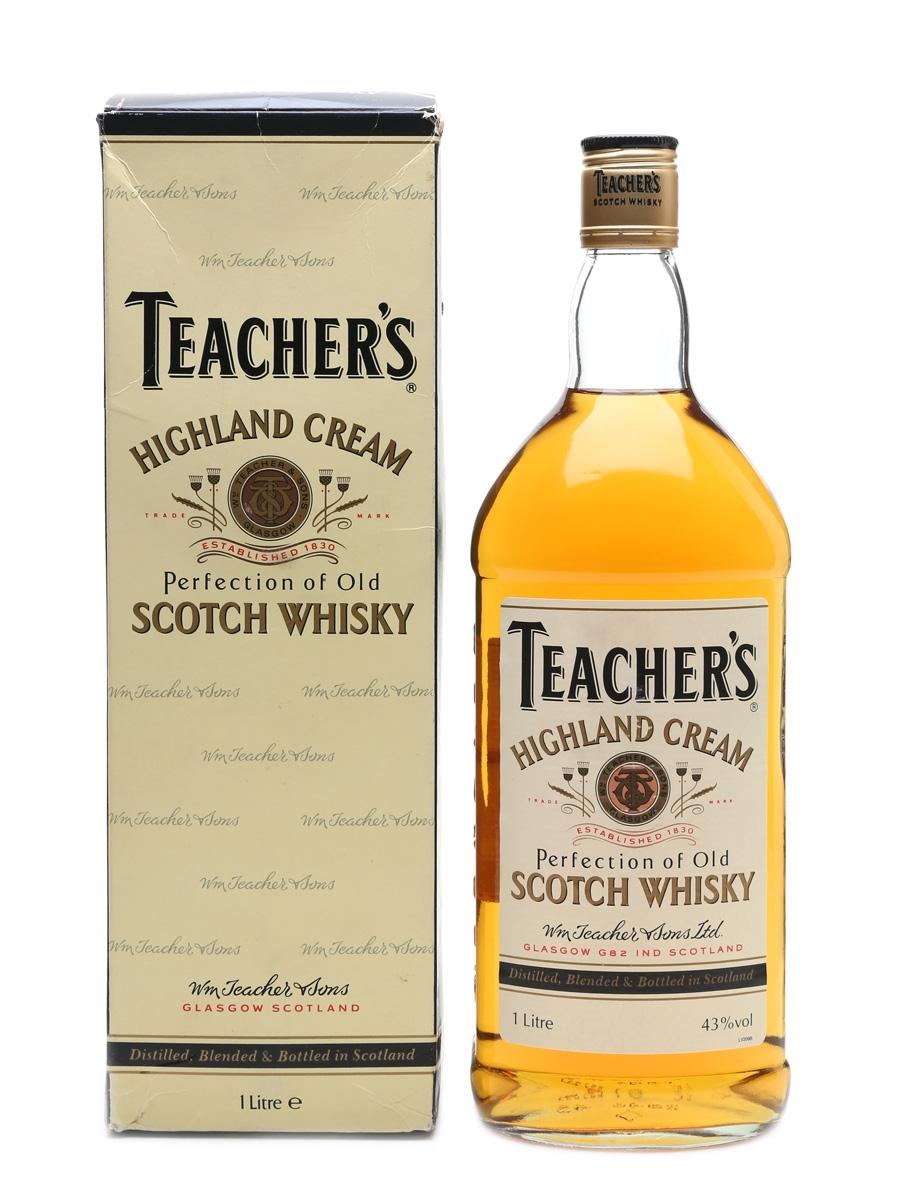 Teacher/'s Highland Cream Scotch Whisky Empty Advertising Tin