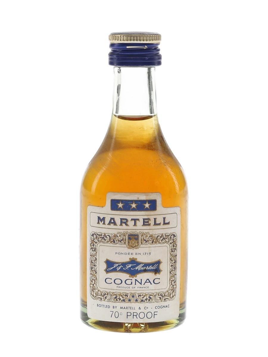 Martell 3 Star Bottled 1970s 5cl / 40%