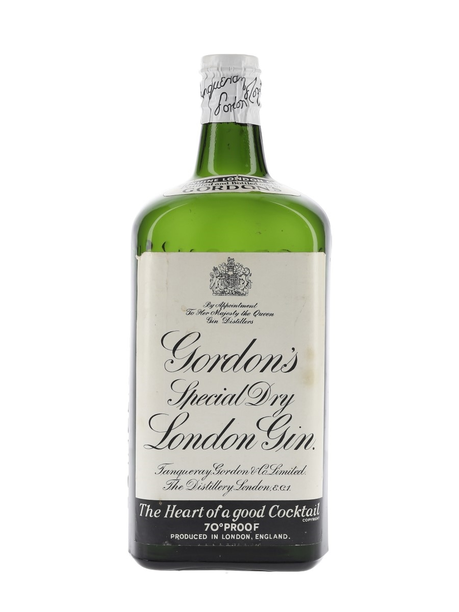 Gordon's Special Dry London Gin Spring Cap Bottled 1950s-1960s 75cl / 40%